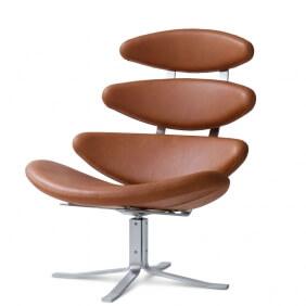 CORONA EJ 5 - fauteuil en cuir aniline Elegance