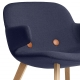 EYES WOOD LOUNGE EJ 3 - fauteuil tissu Remix