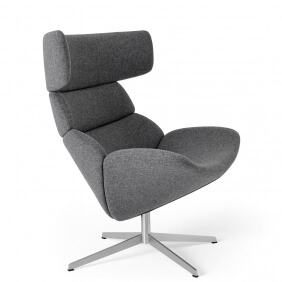 ASKO EJ 110 - fauteuil pivotant en cuir aniline Corona