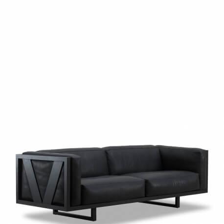 FRAME EJ 555 - canapé 2m30 en cuir Cohiba