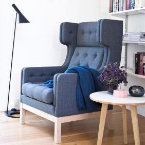EJ 315 - fauteuil dossier haut tissu Mood