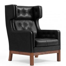 EJ 315 - fauteuil dossier haut cuir Cohiba