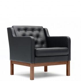 EJ 315 - fauteuil dossier bas cuir Cohiba