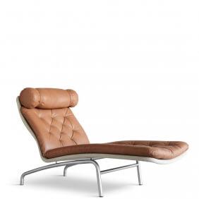 AV72 EJ230 - chaise longue lin et cuir