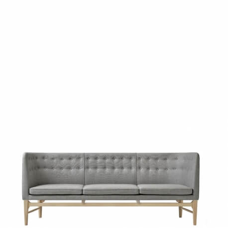 MAYOR - canapé 2m en chêne blanchi et tissu Hallindal 130