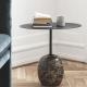 LATO LN9 - table d'appoint marbre et métal 40 x 50 cm