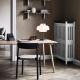 BETTY TK1 - chaise en chêne tissage lin