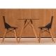 FAZ WOOD - chaise en polypropylène piètement bois (lot de 4)