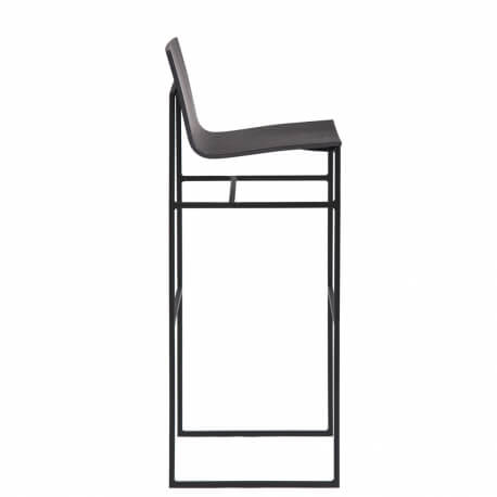 A-COLLECTION - tabouret haut en placage chêne H78 cm