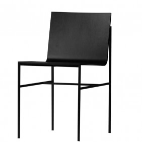A-COLLECTION - chaise en placage chêne noir