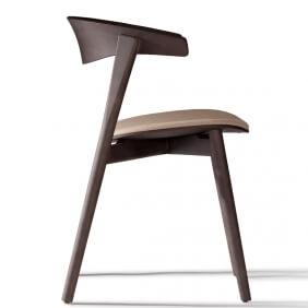 NIX - chaise en hêtre laqué et tissu Medley
