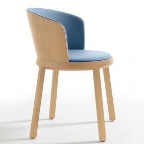 ARO - chaise dossier hêtre tissu Divina3