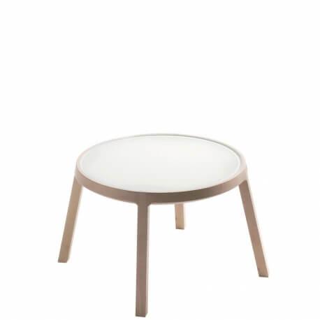 ARO - table basse hêtre et verre