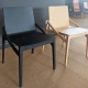 CAPITA - chaise en hêtre laqué noir