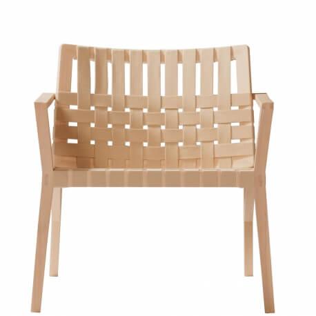 MARTA- fauteuil lounge en hêtre avec sangles