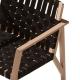MARTA - fauteuil lounge en hêtre avec sangles