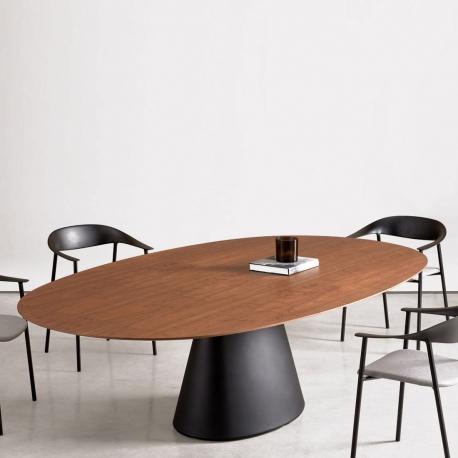 ESSENS - table ovale noyer