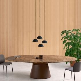 ESSENS - table ovale marbre