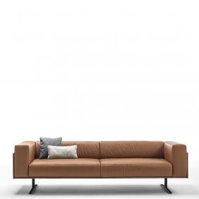 MARCUS - canapé en cuir Piel 2m40