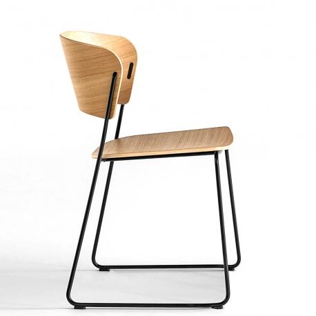ARC - chaise chêne piètement luge