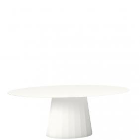 ANKARA - table ovale 200 x 100 cm en métal