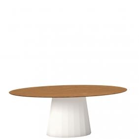 ANKARA - table ovale 200 x 100 cm plateau chêne