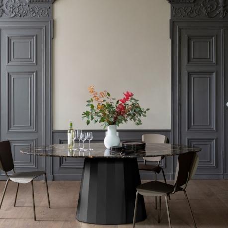 ANKARA - table ovale 200 x 100 cm plateau marbre