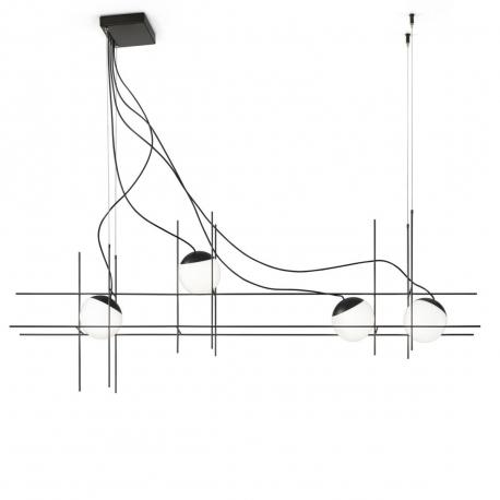 PLOT FRAME - suspension led quadruple 1m50