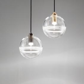 ORO - suspension led en verre soufflé diam. 16 cm