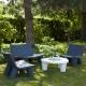 LOW LITA - canapé de jardin en polyéthylène 1m18