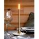 WICK - lampe tactile en aluminium doré
