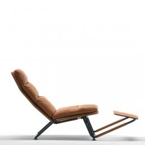 KONTRAPUNKT - chaise longue cuir Aquario