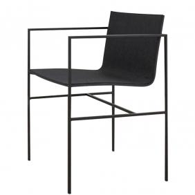 A-COLLECTION - chaise à acoudoirs chêne noir