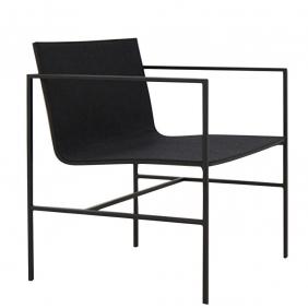 A-COLLECTION - fauteuil lounge en chêne noir