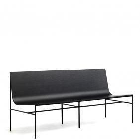 A-COLLECTION - banc en chêne noir 1m60