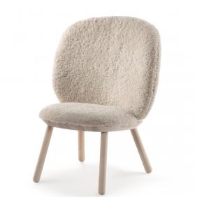 NAIVE LOW CHAIR - fauteuil lounge en mouton