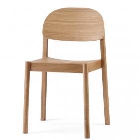 CITIZEN - chaise en chêne dossier arrondi