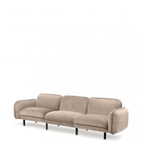 BEAN - canapé en velours 2m64