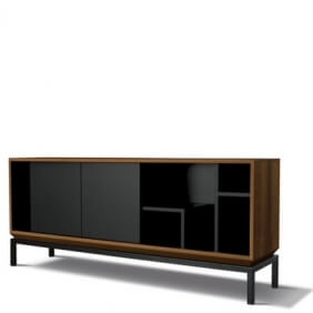 MYCITY - buffet noyer 1m70