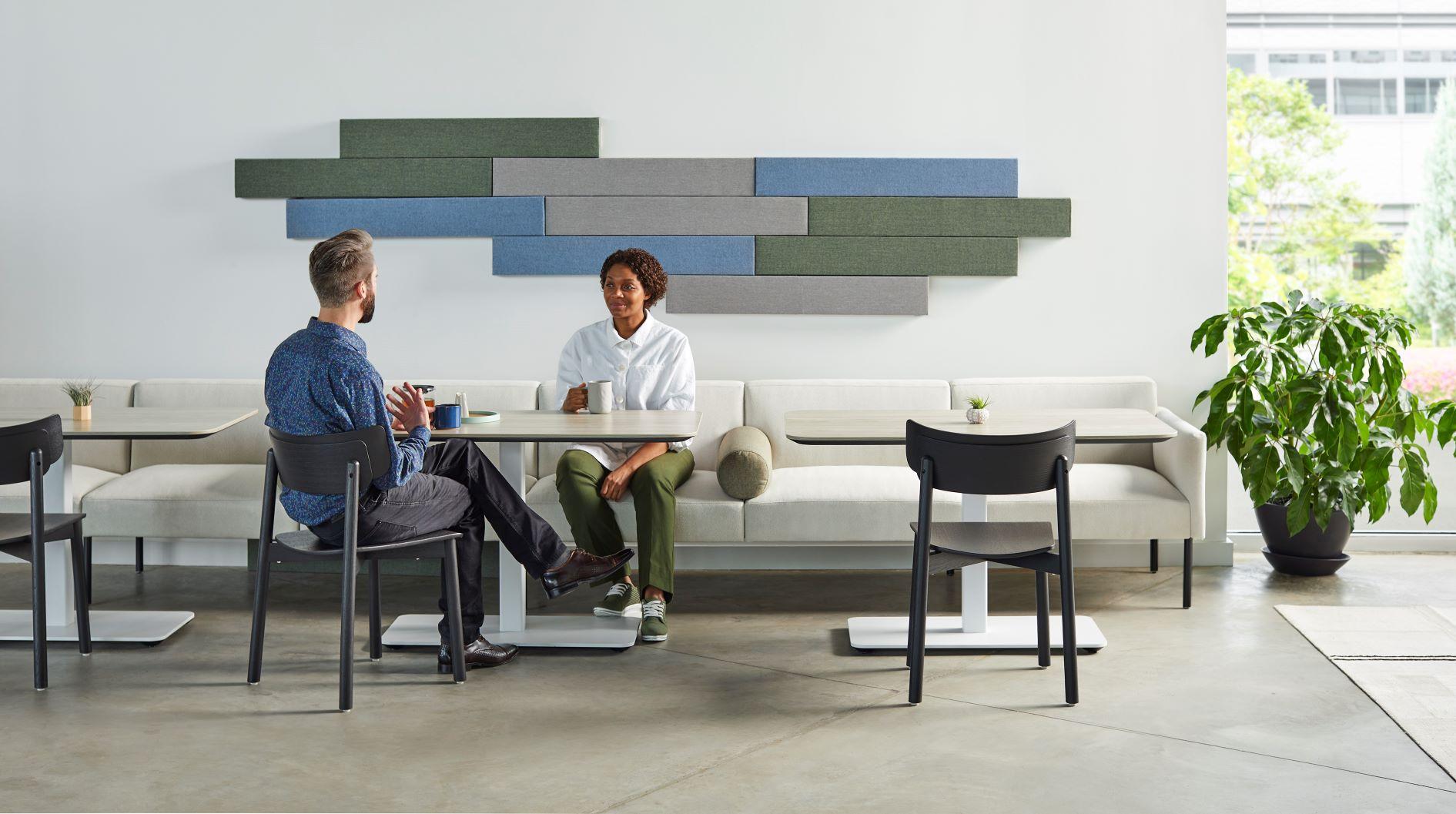 dalles acoustiques rectangulaires Timber de la marque Zilenzio