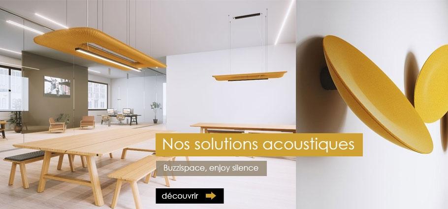 Buzzispace, solutions acoustiques